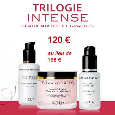 TRILOGIE INTENSE Peaux mixtes et grasses 60€ au lieu de 198€