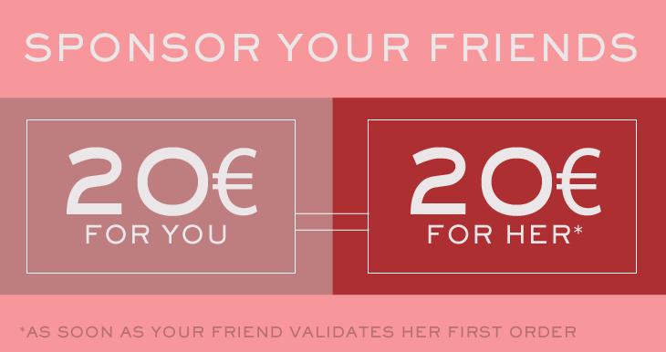 Klytia Paris, Sponsor your friend 20 euros for you and her