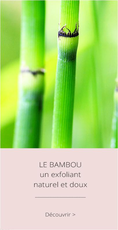 Le Bambou, un exfoliant naturel et doux