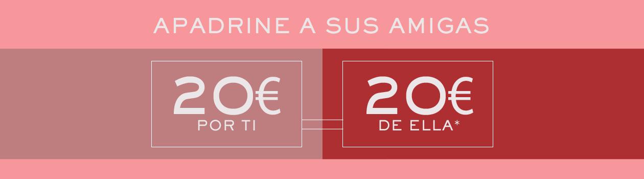 Parrainez vos amies et bénéficiez chacune de 20 euros